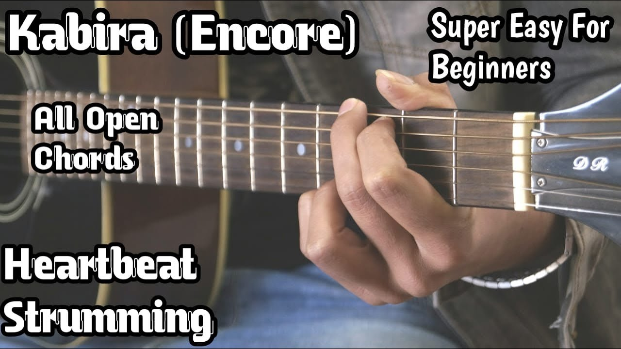 Kabira Song Guitar Lesson | YJHD | Open Chords | Easy For Beginners | Heartbeat cover | Guitar Adda