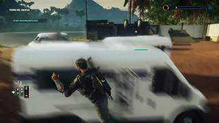 Just Cause 4 Stunt on Garland Van Cover Garland Escape