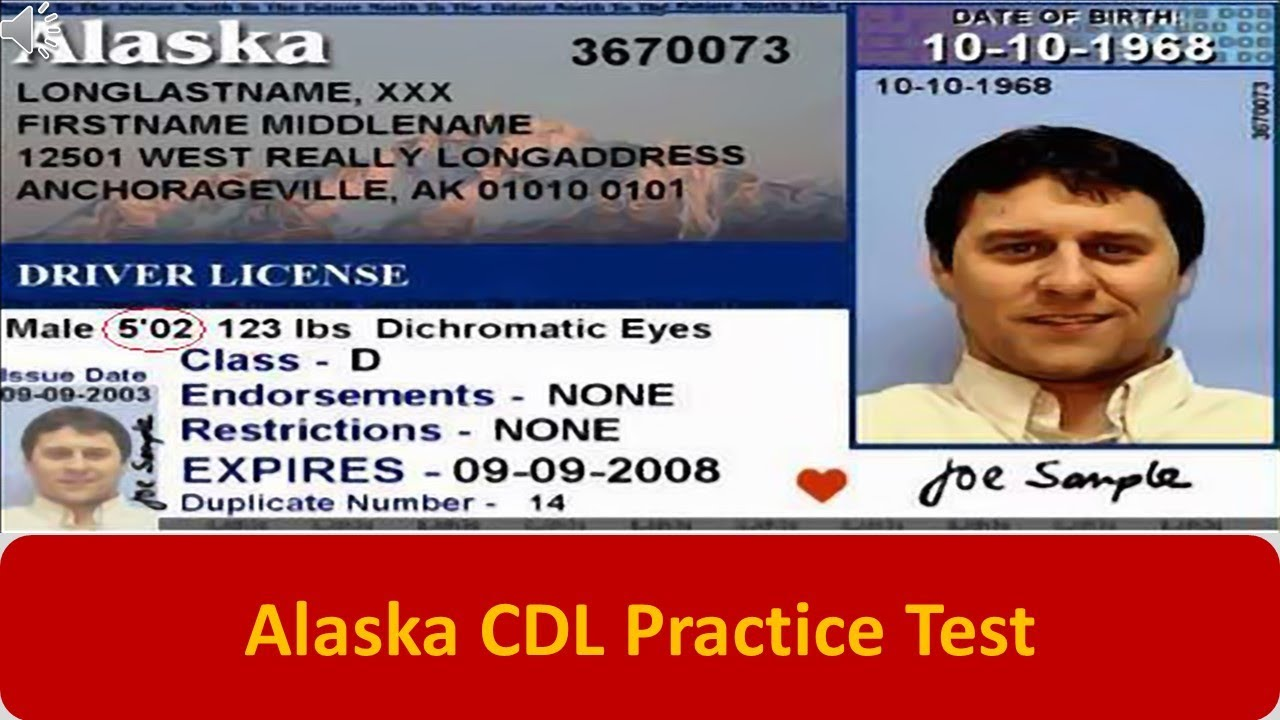 alaska drivers license test book