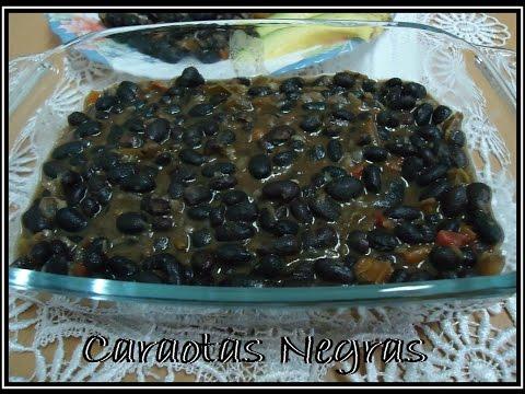 Caraotas negras o Frijoles negros, receta fácil y deliciosa