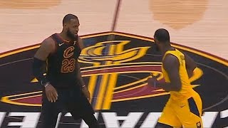 LeBron James Schools Lance Stephenson and Stares Him Down! Cavaliers vs Pacers