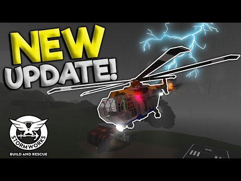 SUNKEN SHIPS & LIGHTNING STRIKE EMP UPDATE!  - Stormworks: Build And Rescue Update Gameplay