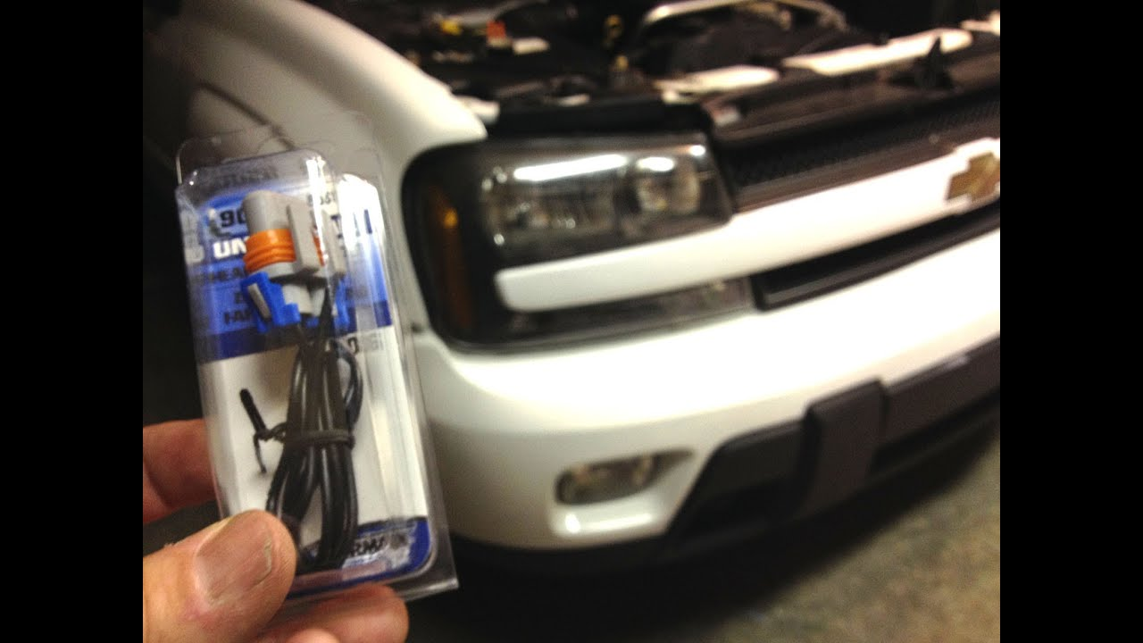 how to change a headlight socket on a chevy trailblazer car - YouTube