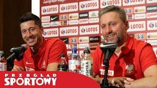 Jerzy Brzęczek i Robert Lewandowski przed meczami z Łotwą i Macedonią Północną