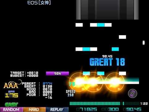 【BMS】 ▼7 EOS [女神] HARD CLEAR!