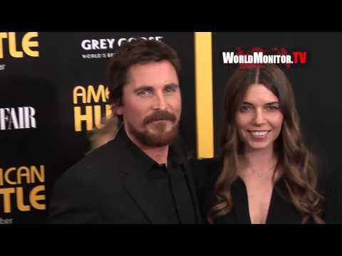 Christian Bale and wife Sibi Blazic arrive at 'American Hustle' New York premiere