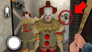 We found 100 PENNYWISE CLONES in GRANNY MULTIPLAYER... (Granny Horror Game MULTIPLAYER)