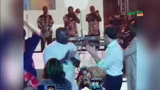 emmanuel macron dances to femi kuti alongside ambode at fela shrine