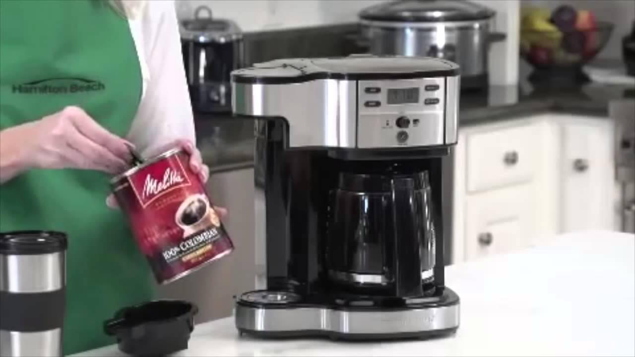 Hamilton Beach 2 Way Coffee Maker 49980z Youtube