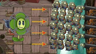 Plants vs Zombies 2 Hack Blover vs Imp Pirate Zombie vs Imp Cannon