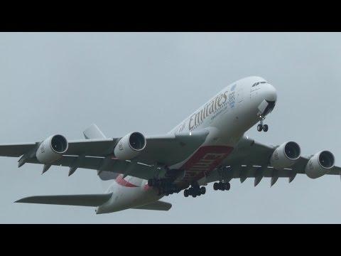 Emirates A380 go-around due plane/car/bird on runway