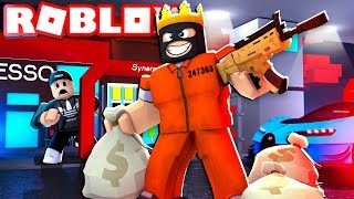 ROBBING A GAS STATION IN ROBLOX | Roblox - Mad City (GTA 5 Roblox)