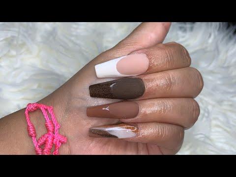 Nude Acrylic Nails | Fall Acrylic Nails | Acrylic Nails tutorial | Natali Carmona