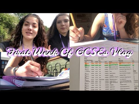 THE FIRST WEEK OF MY GCSES!! (VLOG 1)
