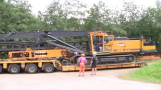 Repeat youtube video Loading A Junttan PM 23 On To A Goldhofer 3+5 Axle Module Trailer