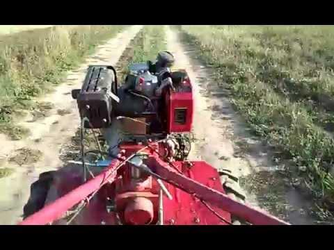 Мотоблок Fermer.ПЕревозка картошки самодельным прицепом