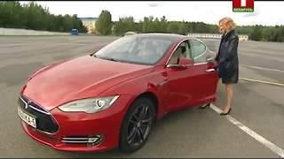 Тест-драйв Tesla Model S P85D и урок: как двигаться рядом с фурой? Коробка передач