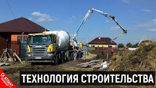 Заливка фундаментной плиты   Строительство дома в Краснодаре