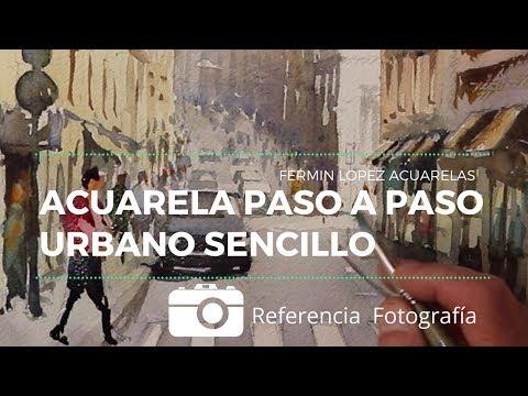 Acuarela Calle de Lisboa. Urbano Paso a Paso con detalle y explicación en español.