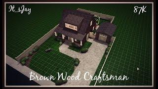 Brown Wood Craftsman | Roblox: Bloxburg Speedbuild