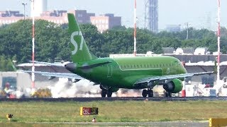 NEW LIVERY! S7 Airlines Embraer ERJ-170SU VQ-BYD Takeoff at Berlin Tegel Airport