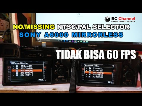 (Solved) Sony A6000 Tidak Bisa 60 FPS | No/Missing NTSC/PAL Selector Fixed 2020