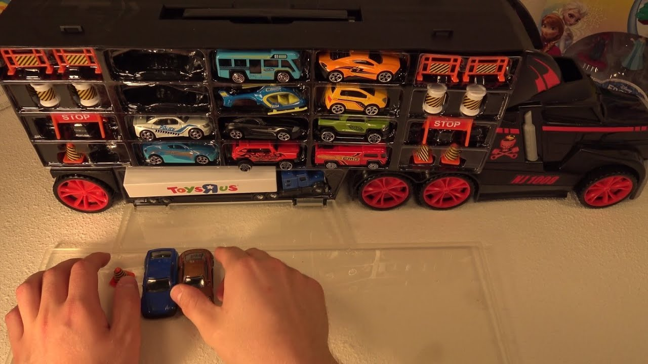 12 Fast Lane Cars in Truck Carry Case - YouTube