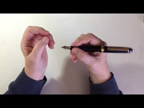 "Pen review: Platinum #3776 ""Century"" in Chartres blue with a14K gold medium nib."