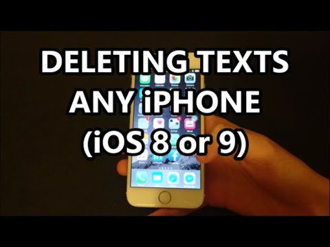 How do you delete text messages from iphone 6 plus