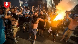 Фанаты «Зенита» матерят милицию, дерутся и поют песни «Ленинграда»