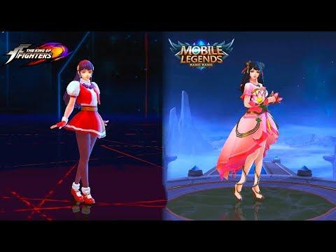 Guinevere Lotus Starlight Skin VS Athena Asamiya K.o.F. Skin Mobile Legends