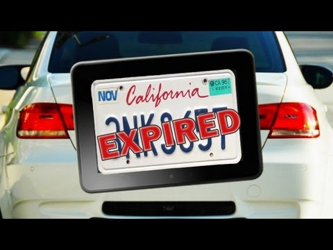Can I drive out of CA without license plates?
