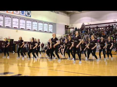 Prairie Ridge High School Poms at Spring Assembly