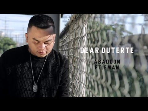 Abaddon  Dear Duterte Ft Eman With Lyrics
