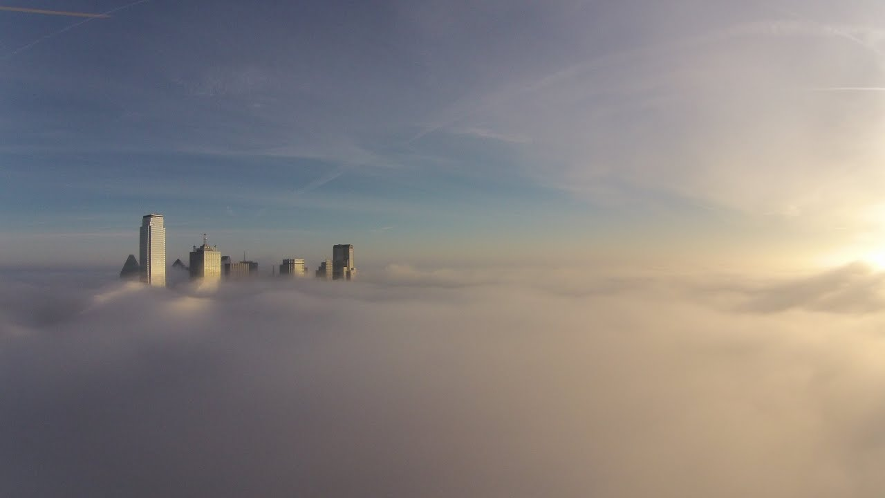Dji Phantom 2 >> 12/9/14 - Above the Fog - Downtown Dallas Sunrise via ...