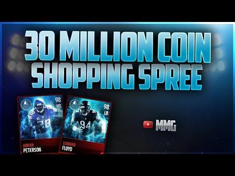 30 MILLION COIN SHOPPING SPREE! Madden Mobile 17