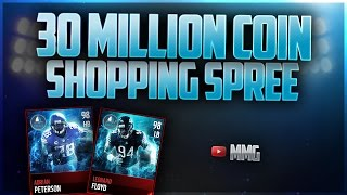 30 MILLION COIN SHOPPING SPREE! Madden Mobile 17