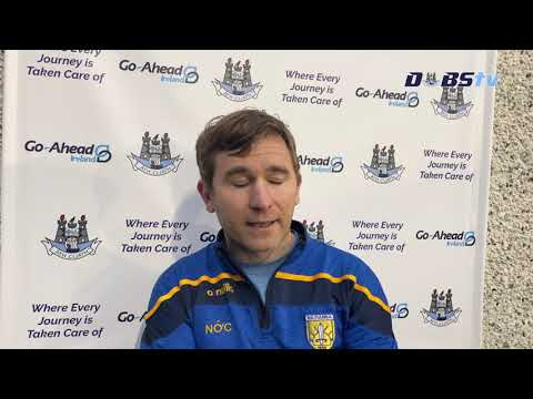 Na Fianna manager Niall Ó Ceallacháin chats to DubsTV after victory over Whitehall Colmcille