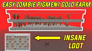 EASY GOLD/ZOMBIE PIGMAN Farm Minecraft 1.15.2 (Unlimited Gold)
