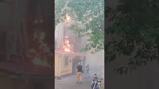 В Гомеле загорелось кафе «Фасоль»