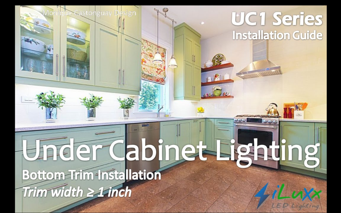 Under Cabinet Lighting   UC1 Series From ILuXx   Installation Guide