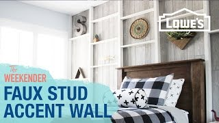 Faux Stud Accent Wall