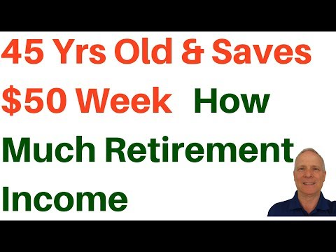 🔴45 Years Old & Saving $50 / Week How Much Income for Retirement
