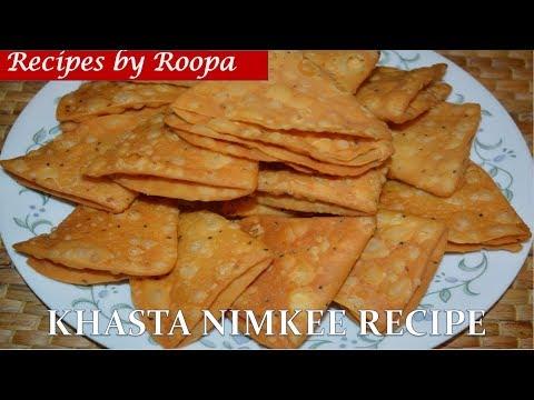 Nimki Recipe Video - Crispy Nimki Namkeen - Tea Time Snacks Recipe - How To Make Nimki - खस्ता निमकी