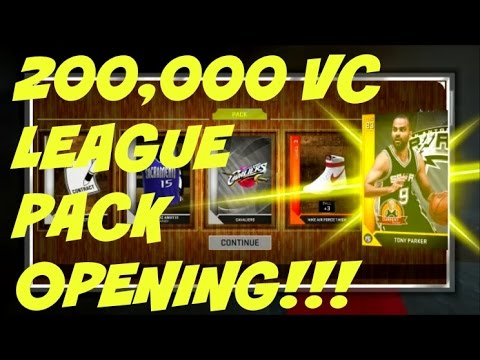 Nba 2k16 Myteam 200000 Vc League Vip Pack Opening Pre Order