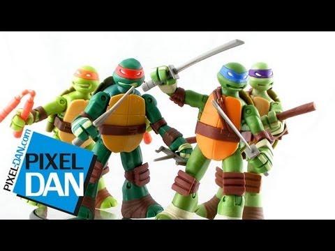 Nickelodeon Teenage Mutant Ninja Turtles Battle Shell Turtles Figures Video Review