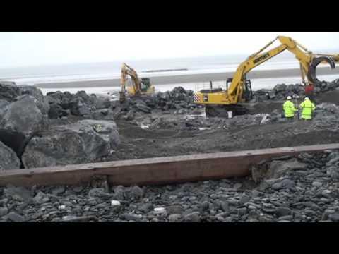 Borth New Sea Defenses Video 1