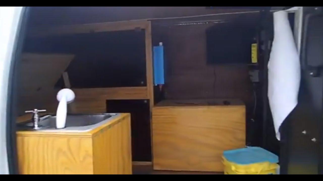 LIVING OFF THE GRID  CAMPER VAN  GYPSY Van sink install