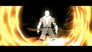 Combustion Man VS Team Avatar: Full Fight [HD]