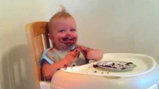 Hazel Eats Chocolate Cake